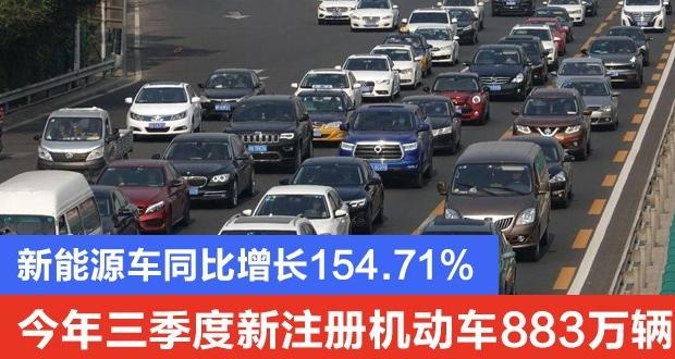 公安部:前三季度新能源汽车增187.1万辆
